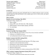 Sample Resume For Undergraduate Student With No Experience Best