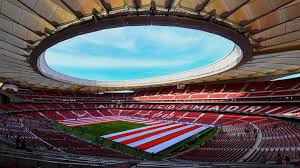 Atletico madrid show off new stadium as wanda metropolitano takes shape ahead of grand opening atletico madrid will move into new stadium ahead of la liga season they left the vicente calderon at the end of last season after 51 years there atletico madrid showed off their swanky new club crest last week and now they have given their. Atletico Madrid S Wanda Metropolitano Stadium To Host The 2019 Champions League Final Football News Sky Sports