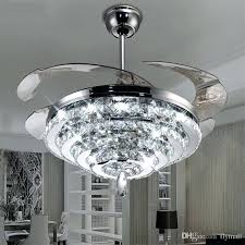 universal fan light kits led crystal chandelier fan lights invisible ceiling with light kit inside decorations