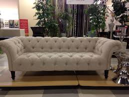 nicole miller sofa tufted linen i purchased this exact sofa at home goods two weeks ago for 630