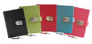 black and turquoise locking leather journals