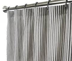 Striped Bedroom Curtains Horizontal Black And White Striped Shower Curtain Free Image