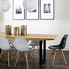molded plastic dining chairs. LIve Edge Dining Table With Eames Molded Plastic Chairs O