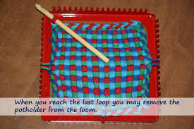 Potholder Loom Patterns Classy The Best Way To Finish Handwoven Potholders