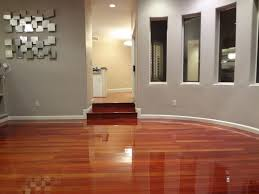 Sleek Wood Floor Colors With Simple Staircase Side Electric Swich