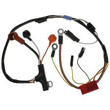 ford mustang electrical and wiring wiring harness cal mustang com Wiring Harness Wire Gauge alternator generator wire loom, 1973 6 cyl & 8 cyl alternator with gauges ( car wiring harness wire gauge