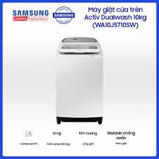 Máy giặt cửa trên Activ Dualwash Samsung 10kg WA10J5710SW