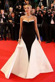 Red Carpet Designer Evening Gowns Designer High Quality Strapless Black And White Evening