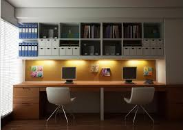 Home office office room design ideas Small Cool Home Office Ideas With Book Racks And Wooden Desk Homesfeed Home Office Ideas Homesfeed