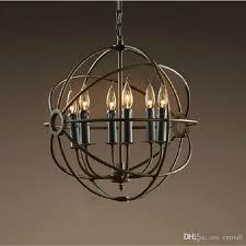 compre rh iluminação restauração hardware pingente vintage lâmpada foucault ferro orb ferro rústico rh loft luz globo estilo 65cm 80cm 103cm de cnmall