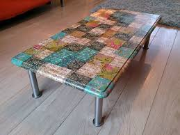 floral decoupage furniture. Decoupage Coffee Table **I Did This With Different Sized Leaves Cut Out From Green And Floral Patterned Scrapbook Paper Covered The Top A Piece Of Furniture .