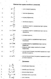 Основные формулы молекулярной физики и термодинамики шпаргалка  основные физические законы и формулы динамика