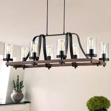 Island lighting fixtures Ceiling Guntel Forged Metal Multilight Chandelier With Glass Pillar Shades 6 Or Lamps Overstock Buy Island Ceiling Lights Online At Overstockcom Our Best