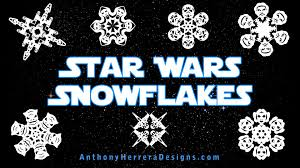 How to make paper snowflakes. New The Force Awakens Star Wars Snowflake Templates