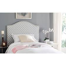 white upholstered twin bed. Modren Bed Connie Grey And White Twin Headboard Throughout Upholstered Bed T