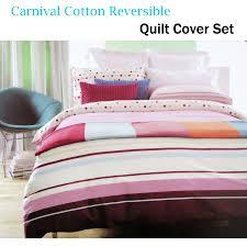 details about 100 cotton carnival polka dots quilt duvet cover set single double queen king