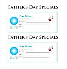 Fathers Day Blank Gift Certificate Voucher Template