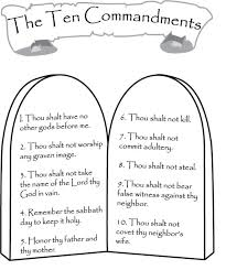 Patterns And Color Sheets Teaching Bible Class 10 Commandments