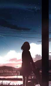 1280x2120 Anime Girl Moescape Alone ...