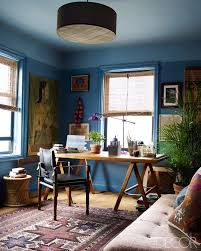 home office wall color. john robshawu0027s gorgeous twotone blue office get the look with dunnedwards home wall color