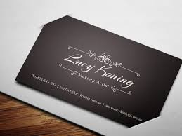 Designs Lovely Makeup Artist Business Cards Templates Free With