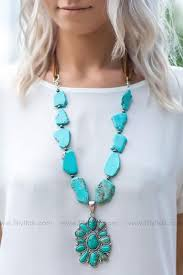 can t get enough authentic turquoise stone necklace
