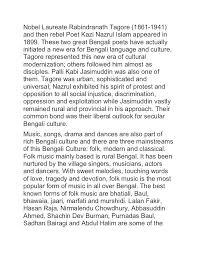bengal and bengali culture  bengali poet 61 nobel laureate rabindranath tagore