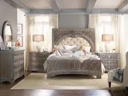 vintage looking bedroom furniture. Hooker Furniture True Vintage King Upholstered Panel Bed 5701-90866 Vintage Looking Bedroom Furniture