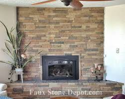 faux stone gas fireplace rock fireplace ideas project completed the stone home depot outdoor stone fireplace