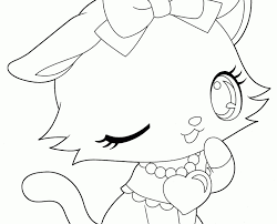 Anime Cat Girl Coloring Pages Colouring Surprising In Page Diyouth