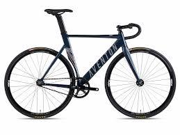 Aventon Mataro Fixie Single Speed Bike Midnight Blue