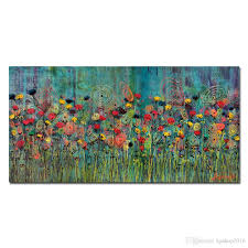 2018 kgtech rainbow flower oil paintings handpainted canvas art with regard to recent abstract floral wall on canvas floral wall art with displaying photos of abstract floral wall art view 19 of 20 photos