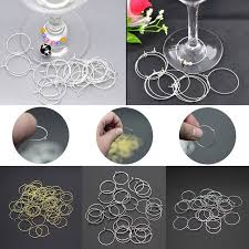 details about 100 pcs wine glass charm rings earring hoops house wedding party hot s uk