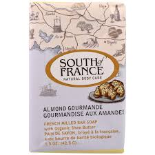 South of France, French Milled Bar Soap with Organic Shea Butter, Almond  Gourmande,