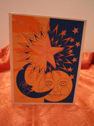 Free Blank Greeting Card Templates Beauteous Sun Moon And Stars Greeting Card Blank Greeting Card Etsy