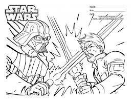 star wars coloring pages luke and vader