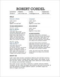 Artist Resume Template Word