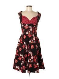 Lindy Bop Size Chart Details About Lindy Bop Women Black Casual Dress M