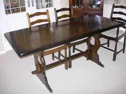 dark wood dining table 6 chairs