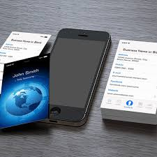 Information Technology Cool Iphone Ios Design Business Card Template