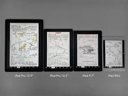 ipad size comparison whats the best ipad for pilots ipad pilot news