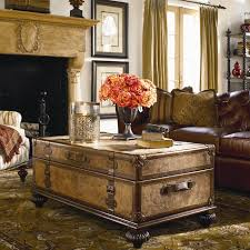 ernest hemingway traveler s trunk cocktail table from baers view in gallery the ernest hemingway traveler s trunk accessorized with flowers