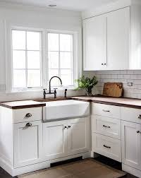 white country cottage kitchen. Delighful White Simple Classic Country Cottage Kitchen With White Cabinetry And Timber  Benchtops Subway To White Country Cottage Kitchen G