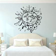 moon wall decor wall art designs wall art for bedroom sun and moon wall decals for