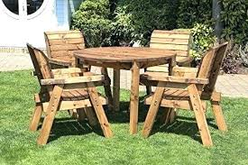 Wooden Garden Dining Table Metal And Wood Garden Furniture Rustic