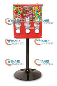 Triple Vending Machine Interesting High Quality Coin Operated Slot Machine For Toy Vending Cabinet
