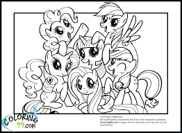 Idea My Little Pony Sea Ponies Coloring Pages Or The Mane Six Page