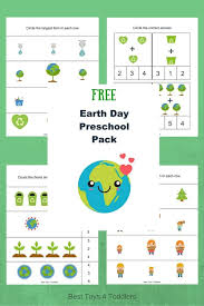 Free Earth Day Printable Pack for Preschoolers - Best Toys 4 Toddlers