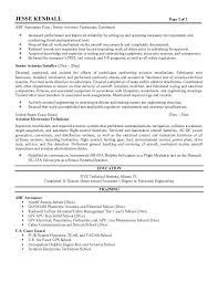 Nice Template Sample Of Aircraft Technician Resume Featuring Training And  Work Experience
