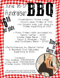 Memorial Fundraiser Flyer Bbq Fundraiser For The Taylor Nicole Hooks Memorial Scholarship Fund